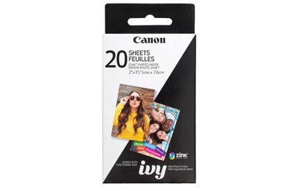 Canon ZINK Photo Paper Pack (20 Sheets) for the IVY Mini Photo Printer