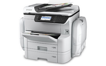 Epson - Impresora Multifuncional a Color en Red WorkForce Pro WF-C869R