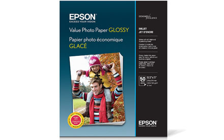 Epson Value (S400031) papel fotográfico brillante, carta, 50 hojas.